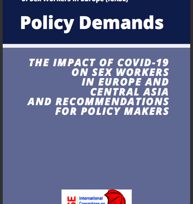 Press release: Over 100 European NGOs endorse a statement calling for emergency support to sex workers amid the COVID-19 crisis