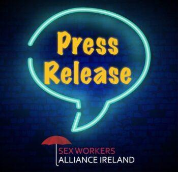 Press release in speech bubble